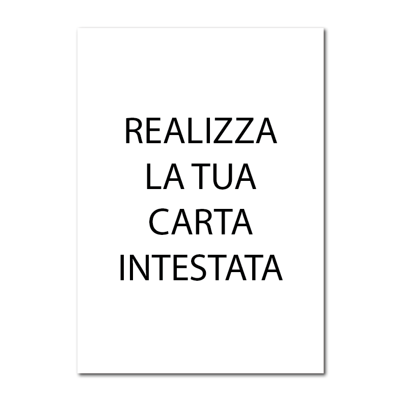 carta intestata A4